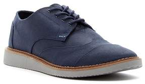 Toms Brogued Navy Wingtip Canvas Sneaker