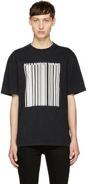 Alexander Wang Black Cracked Barcode T-Shirt