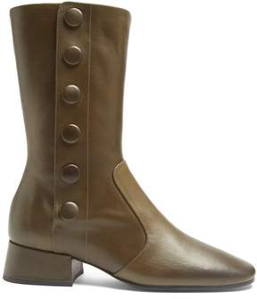 Joseph Button-detail leather ankle boots