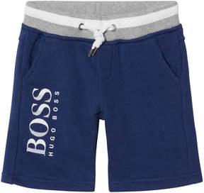 BOSS Navy Branded Sweat Shorts