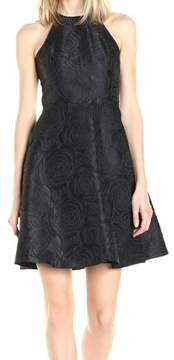 Calvin Klein Women's Floral Jacquard Halter Dress
