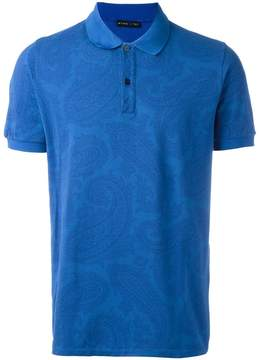 Etro allover print polo shirt