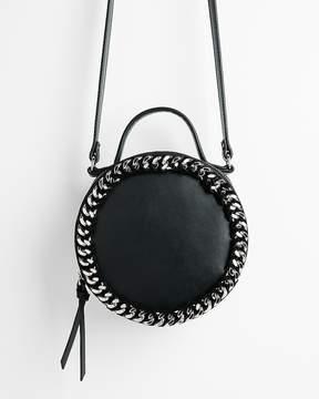 Express Chain Detail Circle Crossbody Bag