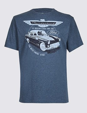 Marks and Spencer Pure Cotton Ford T-Shirt