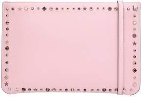 Christian Louboutin Loubiclutch Pink Calf Clutch