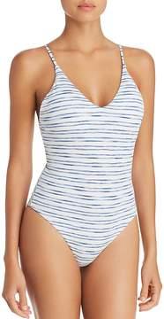 Dolce Vita Mykonos Lace Up Back One Piece Swimsuit