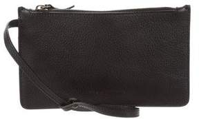 Donna Karan Leather Wristlet Clutch