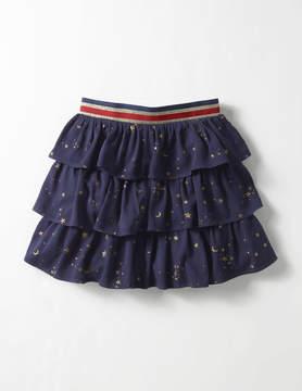 Boden Printed Ruffle Skirt