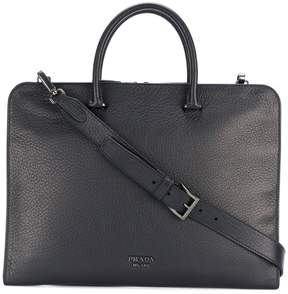 Prada top handle laptop bag