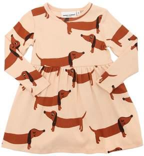 Mini Rodini Dogs Print Organic Cotton Jersey Dress