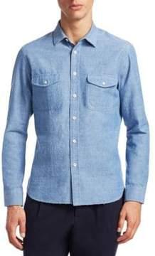 Kent & Curwen Bramley Cotton Button-Down Shirt