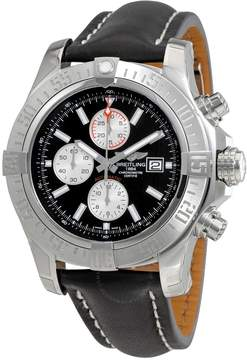 Breitling Super Avenger II Black Dial Black Leather Men's Watch A1337111/BC29BKLD
