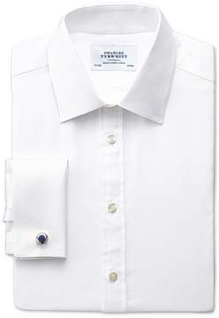 Charles Tyrwhitt Classic Fit Pima Cotton Double-Faced White Dress Shirt French Cuff Size 15/35