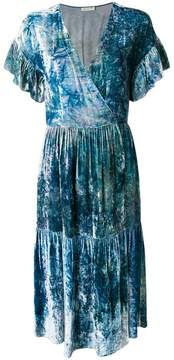 Masscob marble effect wrap dress