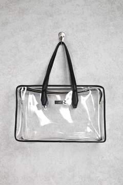FOREVER 21 Contrast-Trim Clear Travel Bag