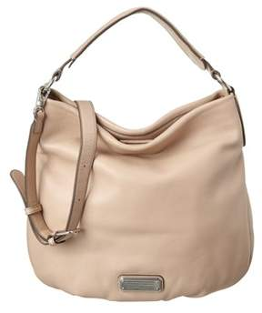 Marc by Marc Jacobs Q Hillier Leather Hobo. - BEIGE - STYLE