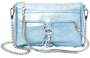 Rebecca Minkoff Women's Mini Metallic-Leather Crossbody - LIGHT/PASTEL BLUE - STYLE