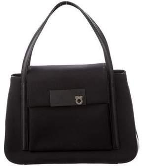 Salvatore Ferragamo Leather-Trimmed Tote Bag