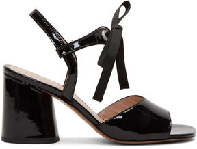 Marc Jacobs Black Patent Wilde Mary Jane Sandals