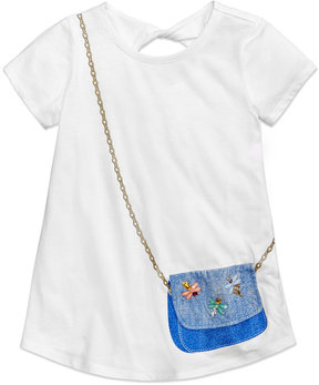 Jessica Simpson Katelyn Twist-Back Purse-Pocket T-Shirt, Big Girls (7-16)