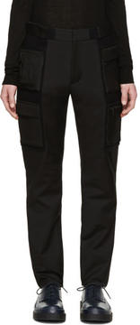 Calvin Klein Collection Black Velcro Cargo Trousers