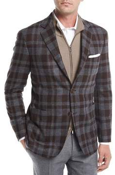 Canali Large Check Wool Sport Coat