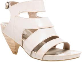 Max Studio manila : waxed leather curved heel sandals