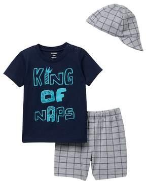 Petit Lem PL Baby by T-Shirt, Shorts, & Cap 3-Piece Set (Baby Boys 12-24M)