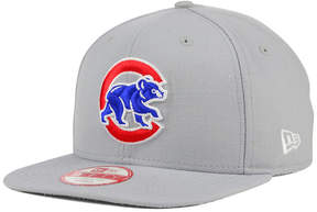 New Era Chicago Cubs Gray Chase 9FIFTY Snapback Cap