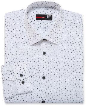 Jf J.Ferrar Easy-Care Stretch Long Sleeve Woven Dots Dress Shirt
