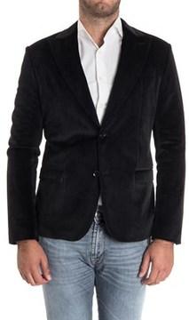 Daniele Alessandrini Men's Black Polyester Blazer.