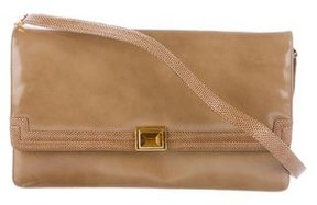 Judith Leiber Karung-Trimmed Leather Crossbody