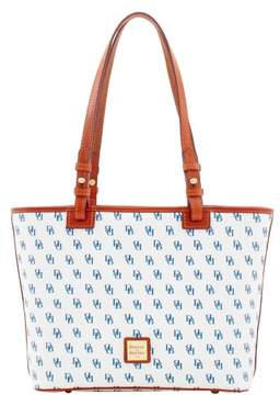 Dooney & Bourke Gretta Small Leisure Shopper Tote - WHITE NAVY - STYLE