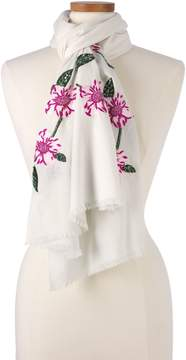 Lands' End Lands'end Women's Embroidered Floral Scarf