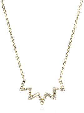 Ef Collection Women's Electric Zig Zag Diamond Necklace
