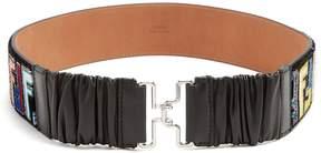 Fendi Logo-print velvet belt