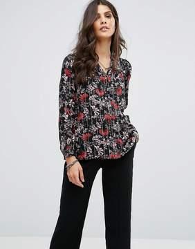 BA&SH Stripe Floral Shirt
