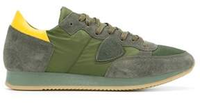 Philippe Model Men's Blue/green Leather Sneakers.