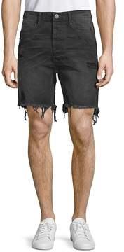 One Teaspoon Men's Frayed Denim Shorts