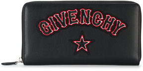 Givenchy gothic logo patch wallet