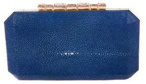 Oscar de la Renta Embellished Stingray Box Clutch