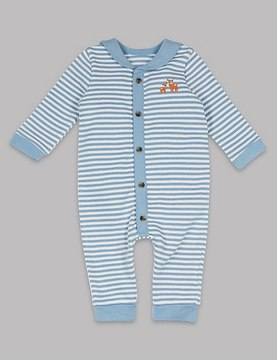 Marks and Spencer Striped Pure Cotton All in One