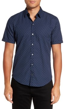 BOSS Men's Ronny Trim Dot Print Sport Shirt