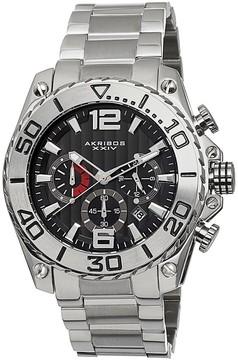 Akribos XXIV Akribos Conqueror Chronograph Black DialStainless Steel Men's Watch