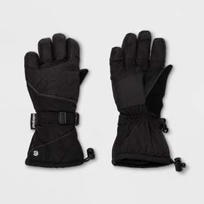 Champion Boys' Embossed Pieced Color Block Ski Gloves Black