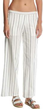 Onia Mila Striped Wide-Leg Coverup Pants