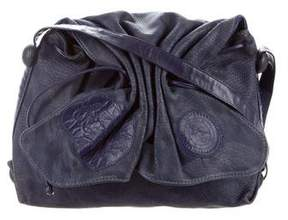 Carlos Falchi Embossed Butterfly Bag