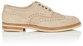 Antonio Maurizi MEN'S SUEDE WINGTIP BLUCHERS
