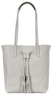 GiGi New York Hannah Personalized Python-Embossed Leather Tote