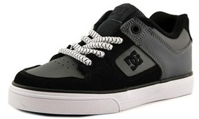DC Pure Elastic Youth Round Toe Leather Skate Shoe.